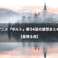 ボルト アニメ 第34話 感想