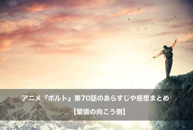 ボルト アニメ 第70話 あらすじ 感想